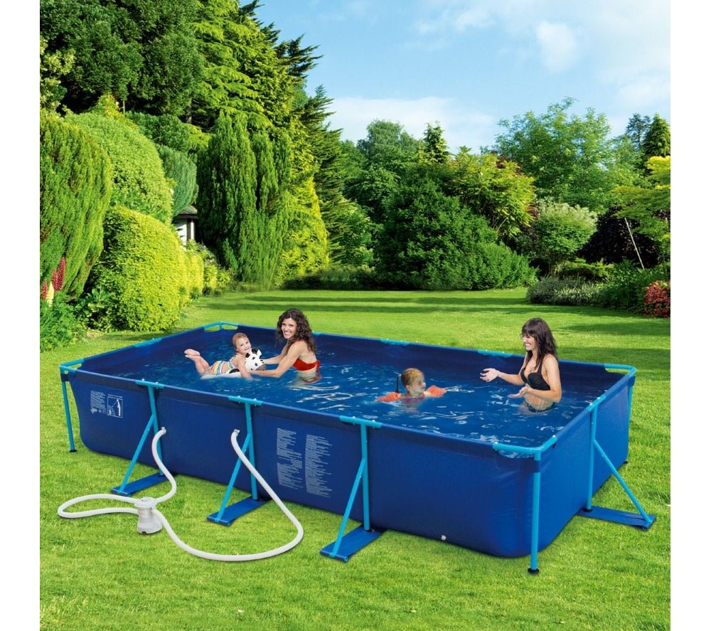 Carrefour piscine tubulaire puka puka l 4 57m x l 2 for Piscine hors sol intex pas cher