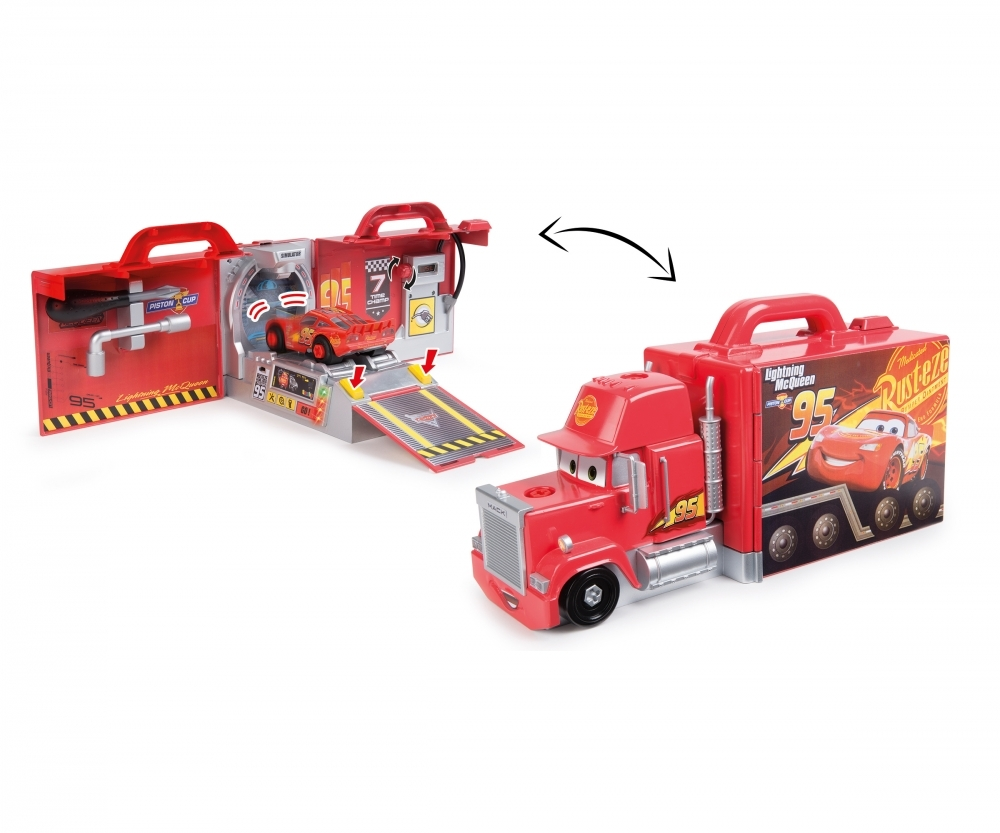smoby cars 3 camion mack truck 360146 pas cher. Black Bedroom Furniture Sets. Home Design Ideas